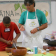 Chef Raul cooks with the students